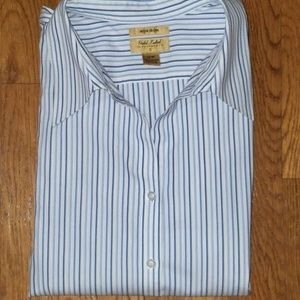 INVESTMENTS Gold Label Non Iron Stripe Shirt 16 W